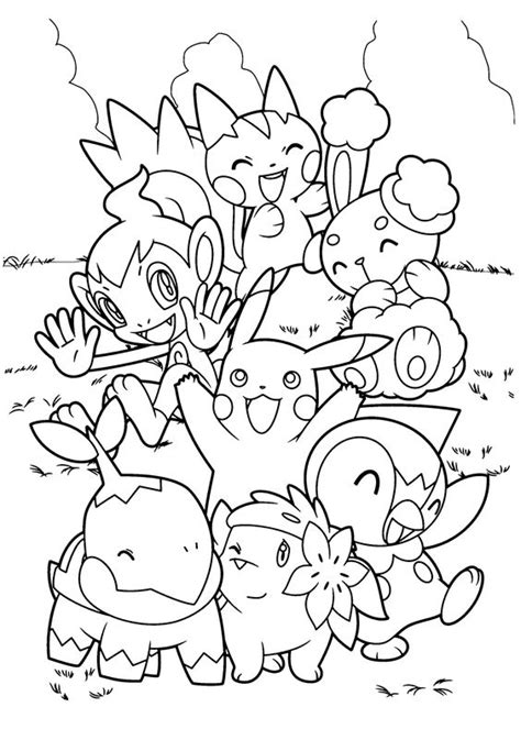 coloring pages pikachu and friends pokemon coloring pages charizard coloringstar