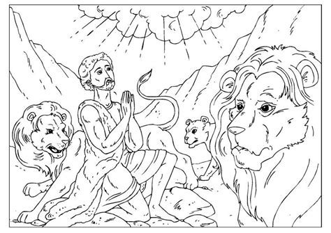 daniel lions den coloring pages az coloring pages