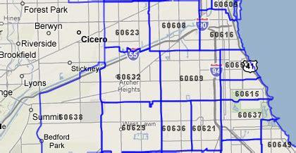 chicago map of zip codes chicago zip code map