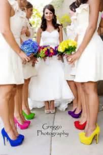 Somewhere over the rainbow wedding theme tie together a rainbow look