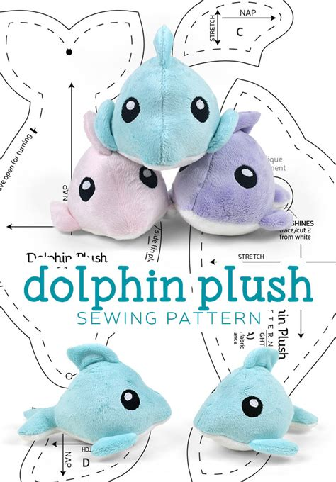 sewing pattern stuffed animal dolphin plush sewing pattern by sewdesune on deviantart