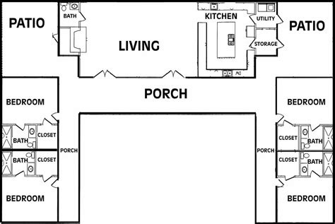 U Shaped Floor Plans by Modern U Shaped House Plans House Design Plans
