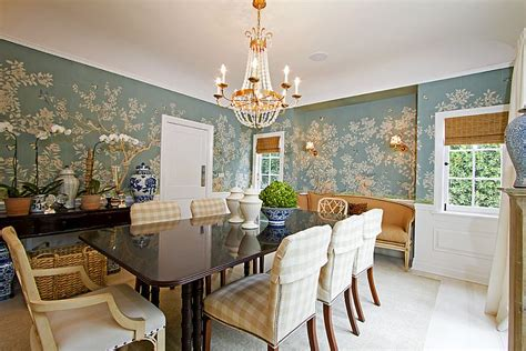 Wallpaper In Dining Room by 27 Splendid Wallpaper Decorating Ideas For The Dining Room