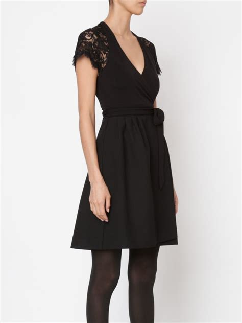 Diane Furstenberg The Wrap lyst diane furstenberg elizabeth wrap dress in black