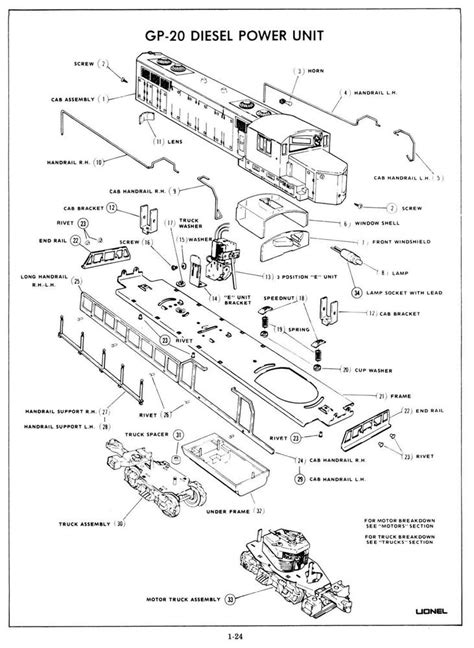 lionel parts list and exploded diagrams lionel diagrams and parts list images