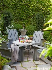 Patio Table And Chairs For Small Spaces A Tiny Front Yard Becomes A Pocket Paradise A Walled Courtyard With Graystone Pavers A