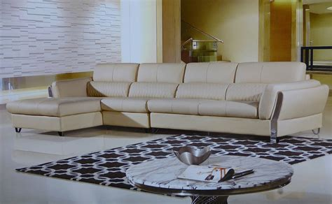 cream leather sectional sofa marigold cream leather modern sectional sofa set