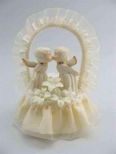 Cherub Angel Stephanotis Cake Topper   Wedding Collectibles