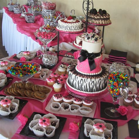 Inexpensive Table Decorations Chocolate Party   Pink