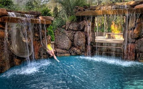 pool waterfall ideas unique pools with waterfalls cool water features for the