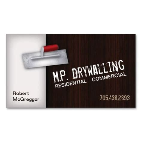 Drywall Business Cards