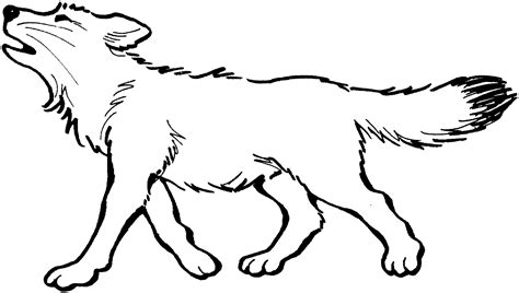 Free Wolf Coloring Pages sketch template