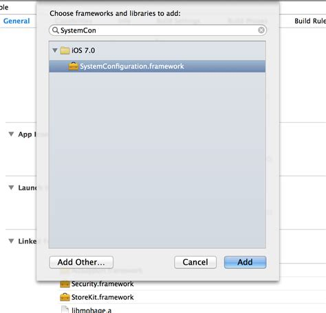 xcode keychain tutorial xcode project に sdk を組み込む smartphone app mobage
