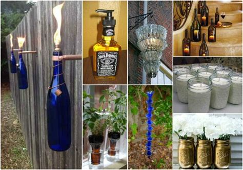 Jack Daniels Wall Stickers 18 best ways to repurpose glass bottles and jars