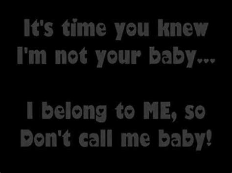 don t call me chip books avenue don t call me baby lyrics