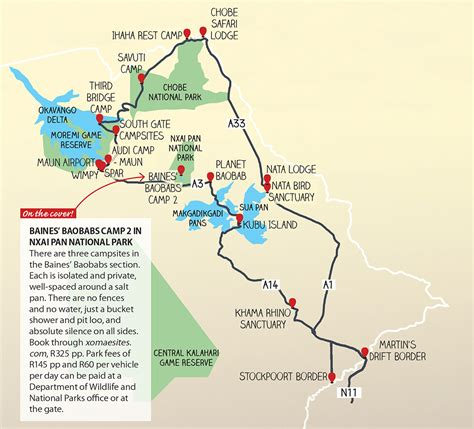 botswana map how to see the best of botswana in 10 days getaway magazine