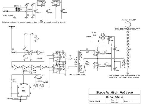 Tesla Coil Plans Tesla Coil Schematics High Voltage Elsavadorla
