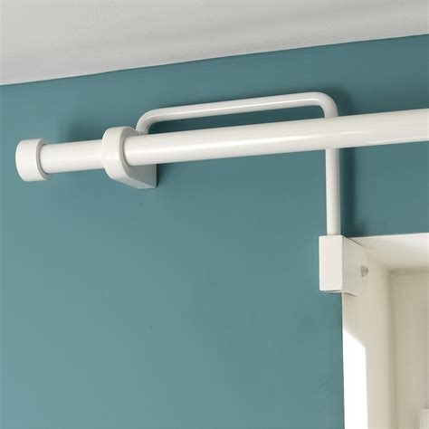 Barre De Pole Sans Fixation Plafond by Support Sans Per 231 Age Tringle 224 Rideau Ib 25 Mm Blanc