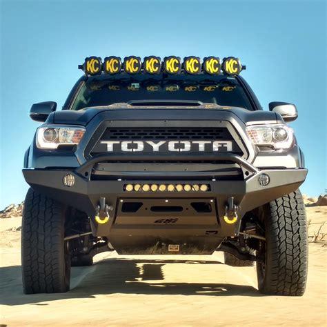 tacoma grill light bar kc hilites gravity led pro6 8 light led light bar for