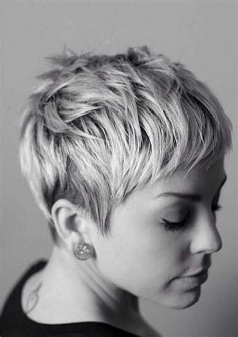 exciting shorter hair syles for thick hair cool and interesting pixie hairstyle back view fashion qe