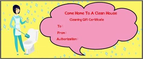 house cleaning gift certificate template molly gift cards lamoureph