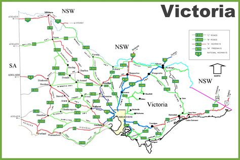 printable australian road maps victoria road map