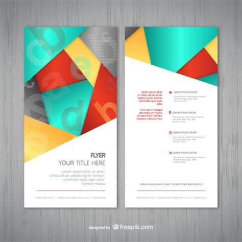 abstract flyer template vector free download