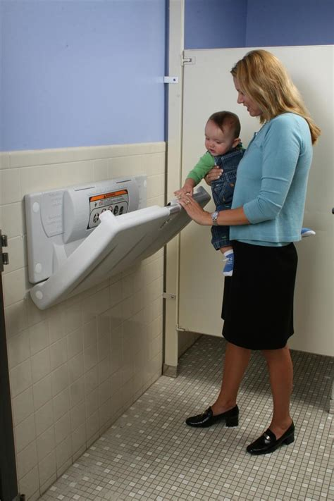 Baby Changing Station With Style by World Dryer Baby Changing Stations Model Abc 300h