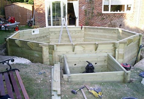 swimming pool holz wooden pool installation build assembly service