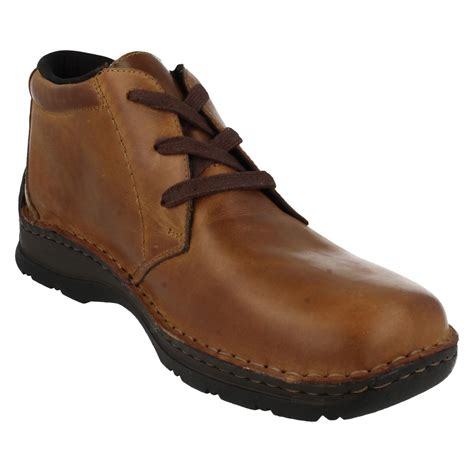 wide mens boots mens rieker all weather wide ankle boots 05344 ebay