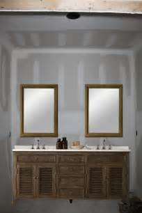 two mirrors in bathroom one large mirror or two individual mirrors vanity