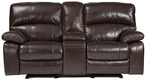 norfolk power reclining loveseat wconsole signature design by damacio brown u9820091