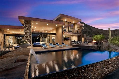 arizona style homes sefcovic residence is a luxurious desert style house