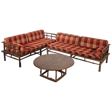 hickory style sofa chaise and coffee table set for