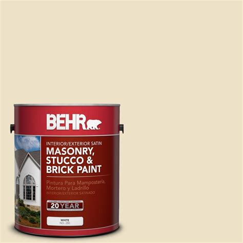 behr premium 1 gal ms 26 chablis satin interior exterior masonry stucco and brick paint
