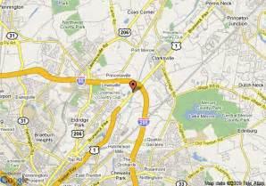 map of comfort inn lawrenceville trenton