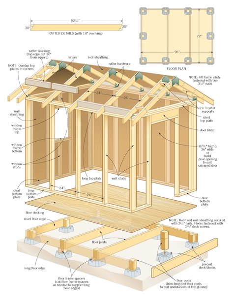 36 wood storage plans to build a wood storage shed