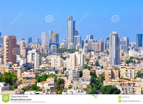 tel aviv future skyline tel aviv skyscrapers israel stock photo image 43772714