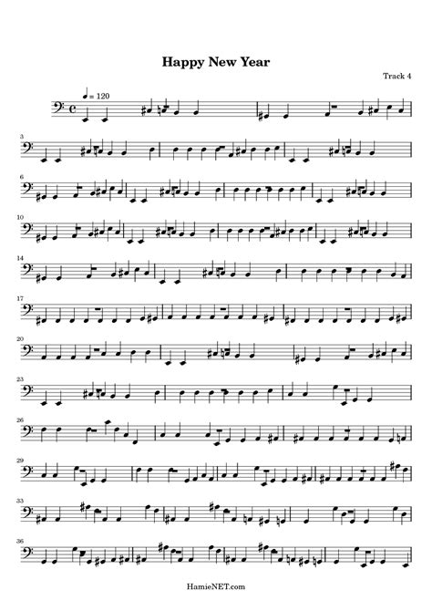 happy new year sheet music happy new year score
