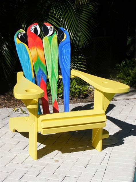 Typing Chair Design Ideas Custom Adirondack Chair Parrot Design By Island Time Design Custommade
