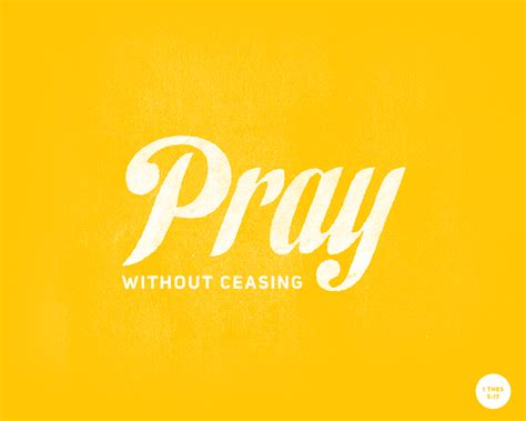 Typographic Verses Pray Without Ceasing Sermon Powerpoint Template