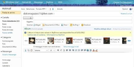drive hotmail condividere foto in hotmail utilizzando skydrive manuali net
