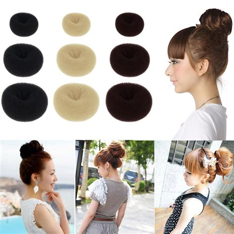 how to use a bun ring womens girl s hot hair bun ring donut shaper hair styler