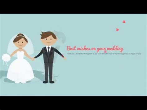 Best Wishes on your wedding day Ecards 05   YouTube
