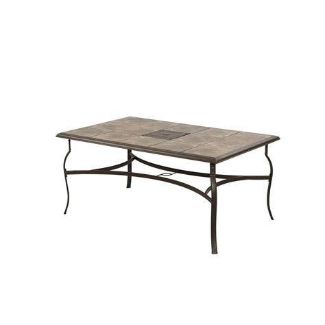Rectangular Patio Table Hton Bay Belleville Rectangular Patio Dining Table Fts80635 The Home Depot