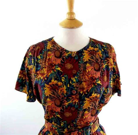 90s floral 90s floral dress blue 17 vintage fashion