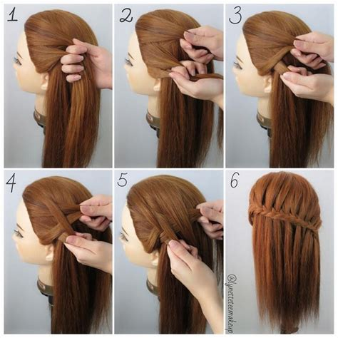 waterfall hairstyle step by step best 25 fishtail waterfall braids ideas on pinterest