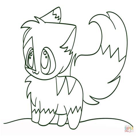 dibujos para pintar kawaii dibujo de gatita chibi kawaii para colorear dibujos para