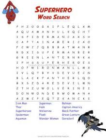 Free superhero word search imagine the birthday child and party