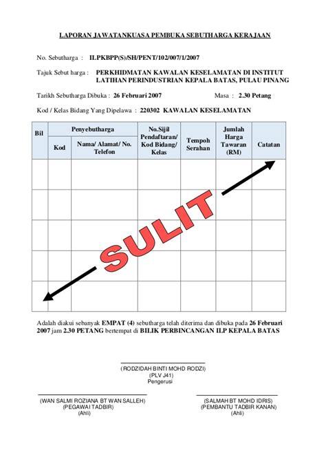 format laporan insiden keselamatan pasien laporan jawatankuasa pembuka sebutharga perkhidmatan